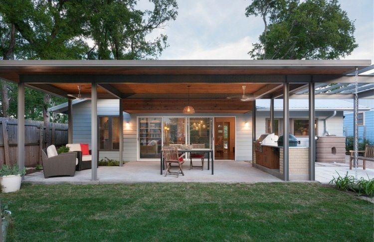 Terrasse couverte - 30 idées sur lu0027auvent en bois et la pergola
