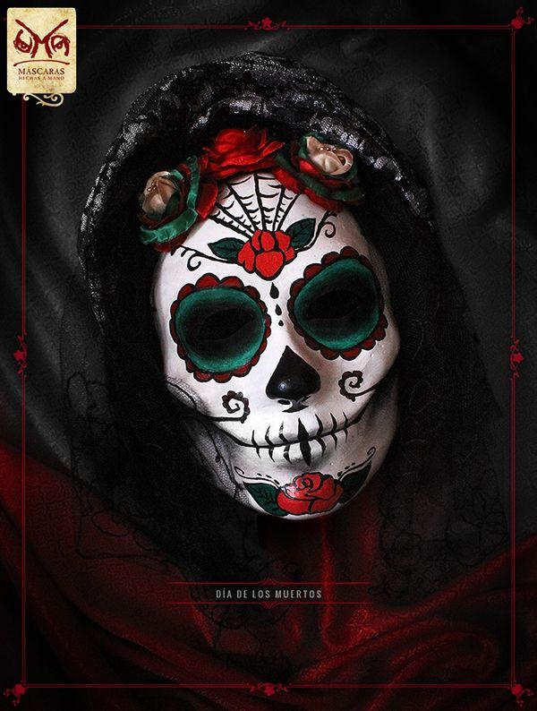 4b728b2b7d1b UMA Máscaras - Máscara Catrina on Behance Mascaras