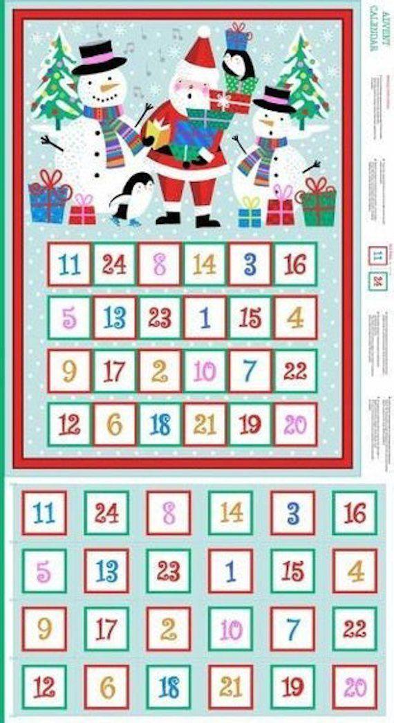 Fabric advent calendar / needlework Kit easy multicolor advent