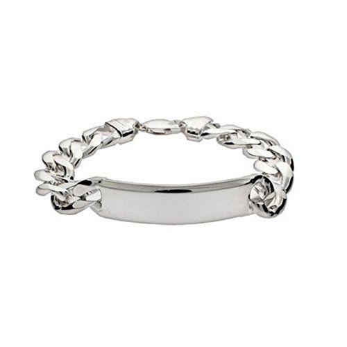 Sterling Silver Jewelry Men S Heavy Curb Link Id Bracelet