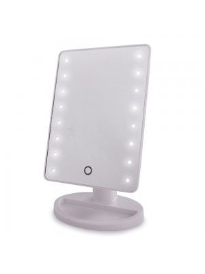 Contemporary Rectangular White Battery Operated Touch ...
