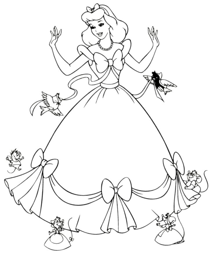 Cinderella - for coloring station | Cinderella coloring ...