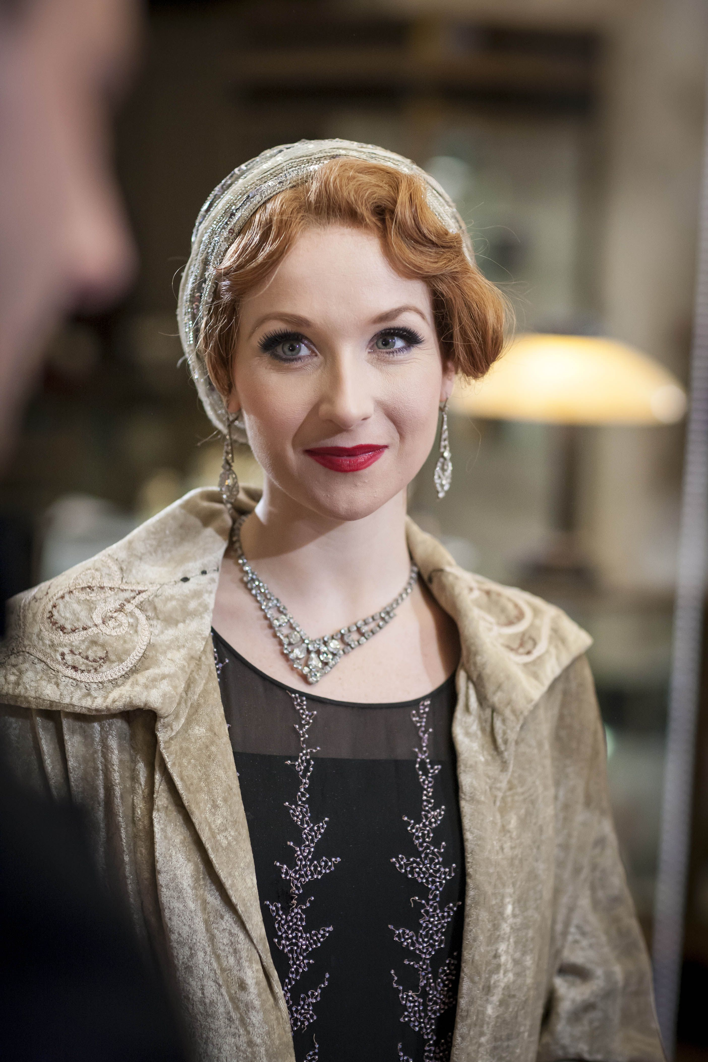 Amy Beth Hayes kitty edwards - amy beth hayes in mr selfridge season 4, set