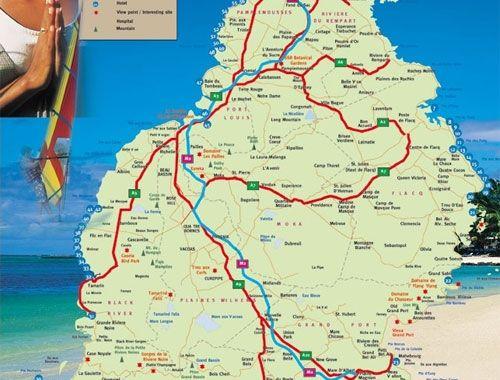 Road Maps of Mauritius Island Mauritius Pinterest
