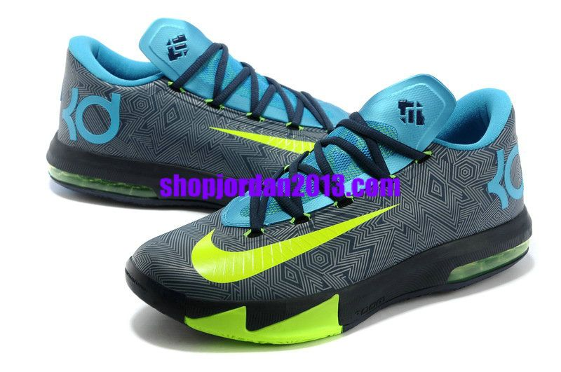 competitive price bab49 fbece Discount Nike Zoom Kevin Durant New KD IV Men Yellow Blue Sapphire  Basketball Shoes 1010