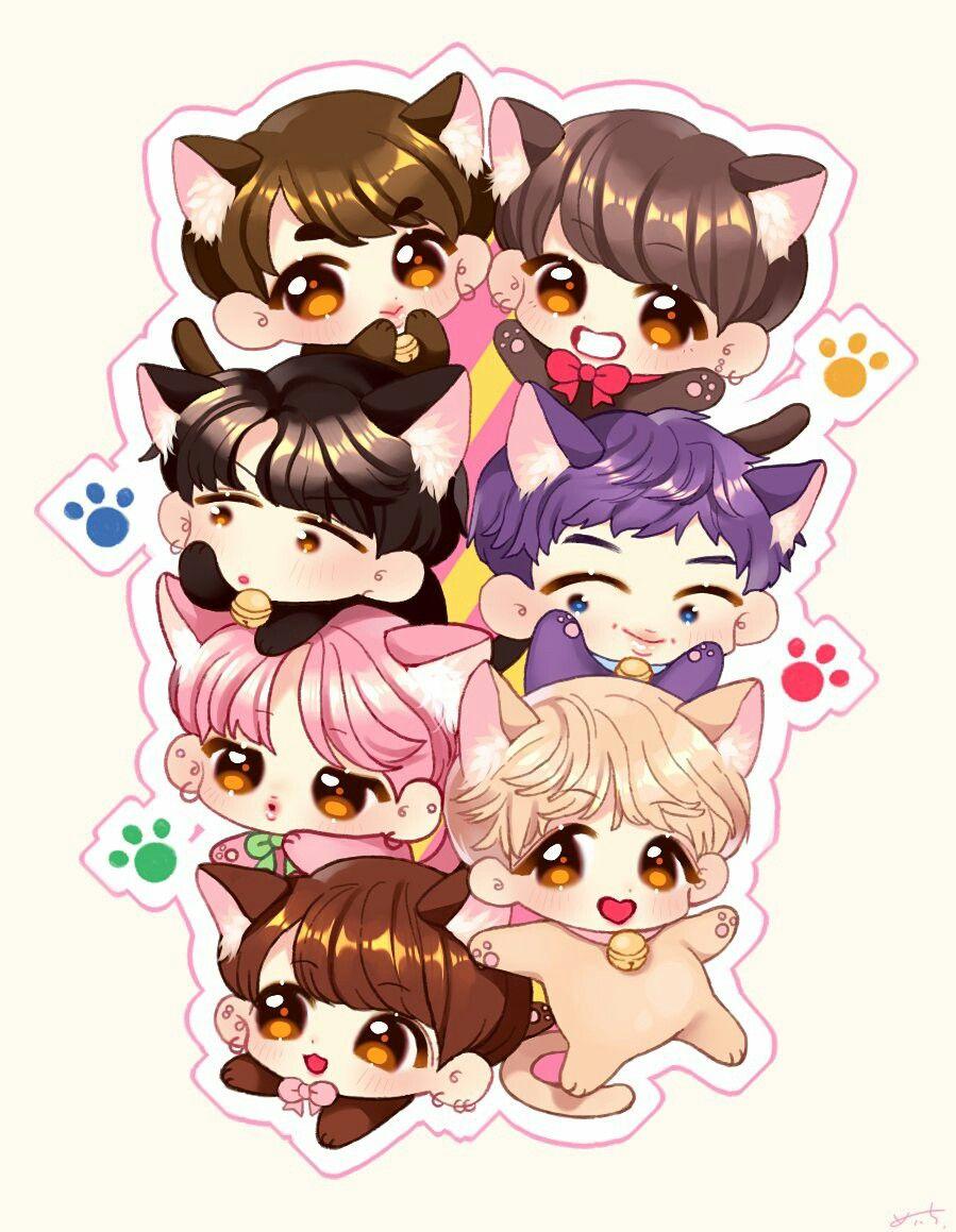 Que Gatos Ilustrasi Lucu Ilustrasi Animasi
