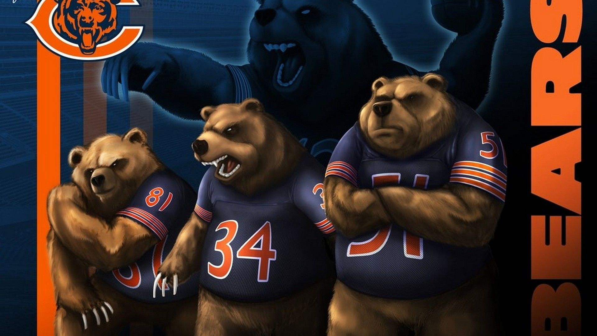 HD Backgrounds Chicago Bears Chicago bears, Chicago