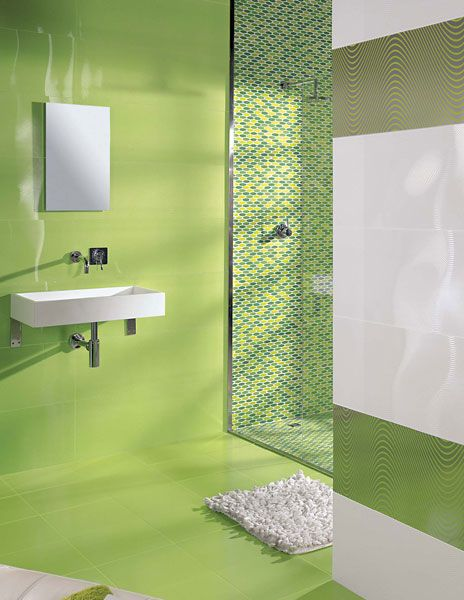 Bano Verde 2 Color Que Me Gusta Y Paleta De Colores Seria Blanco Y Verde El Uso De Vidrios Y Espejos Sin Exceder Fassade Haus