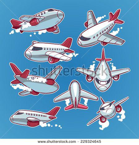 Airplane Vetores e Vetores clipart Stock | Shutterstock