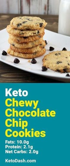 Trying this Chewy Keto Chocolate Chip Cookies and it is delicious. What a great keto recipe. #keto #ketorecipes #lowcarb #lowcarbrecipes #healthyeating #healthyrecipes #diabeticfriendly #lowcarbdiet #ketodiet #ketogenicdiet
