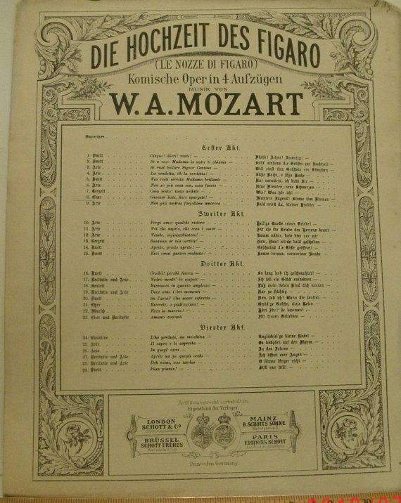 Giovani Lieti Fiore Spargete Chorus Act 1 Of Die Hochzeit Etsy Chorus Music Book Sheet Music
