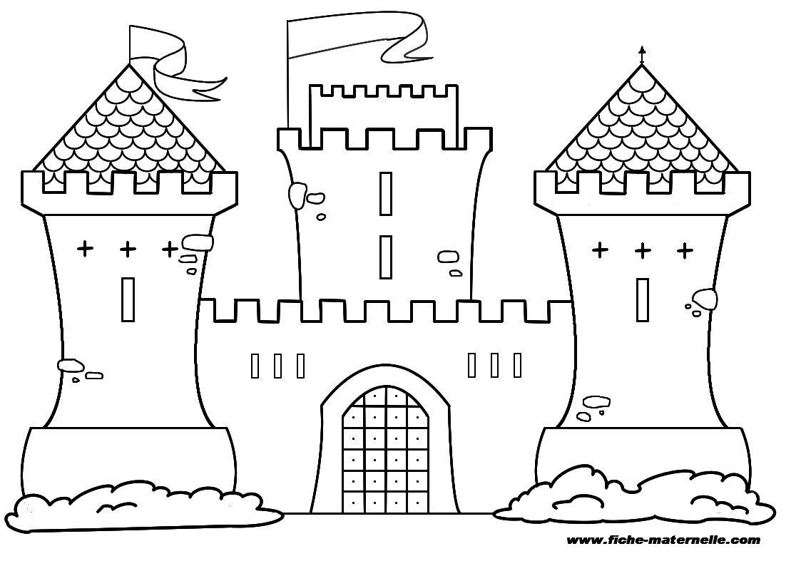 Coloriage Chateau Fort A Colorier Dessin A Imprimer Chateau Fort Castle Cartoon Chateau