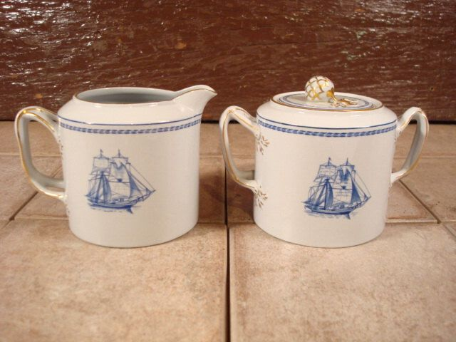 Beautiful Spode Trade Winds blue creamer and sugar bowl with lid ...
