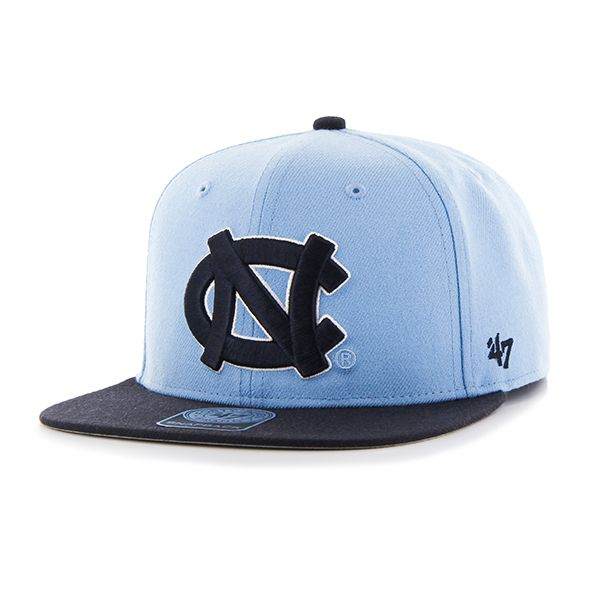 timeless design ca26c f8d78 North Carolina Tar Heels Unc Sure Shot Two Tone Captain Columbia 47 Brand  Adjustable Hat