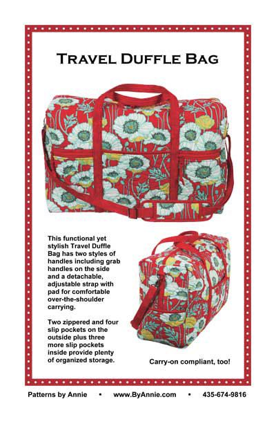 Travel Quilted Duffle Carryon Bag Printed Pattern Patterns By
