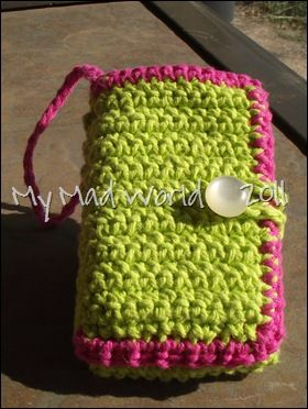 Crochet Cellphone Case With Pockets Crochet Crochet Wallet