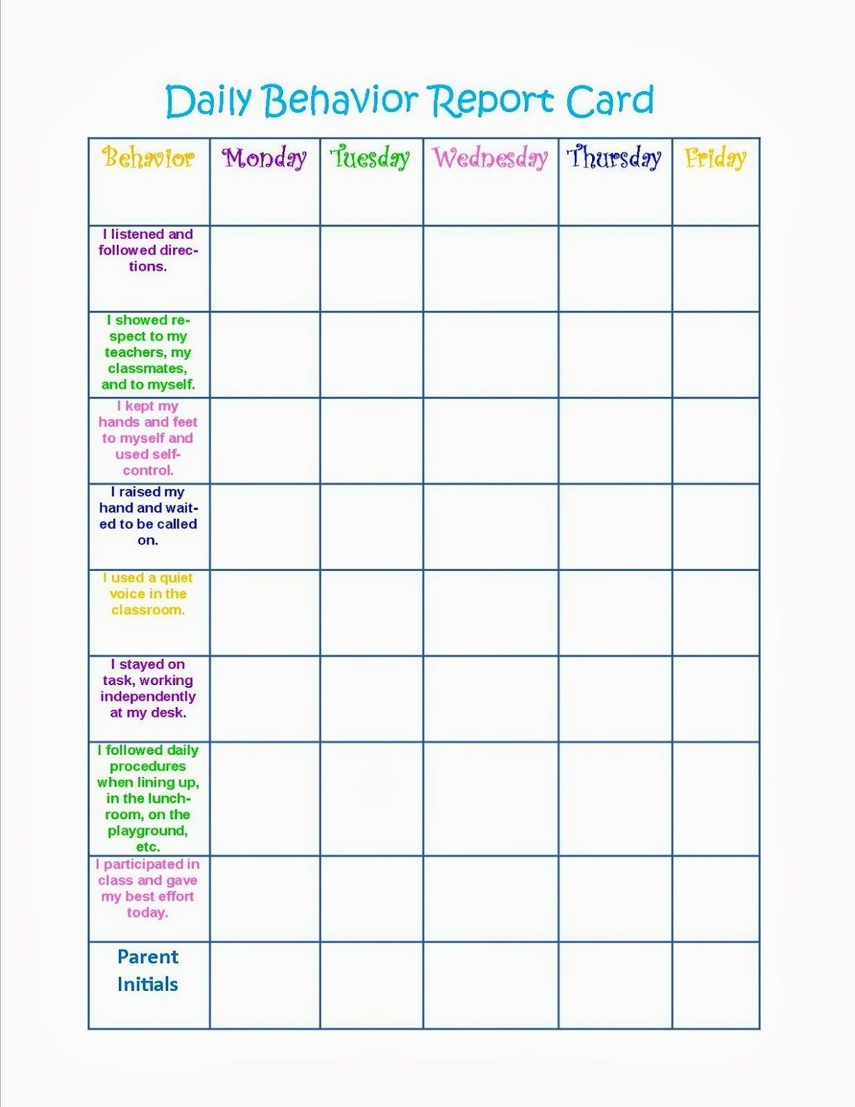 Free And Printable Selection Of Behavior Reward Charts Is Available On This Page These Beh Behavior Chart Printable School Behavior Chart Child Behavior Chart