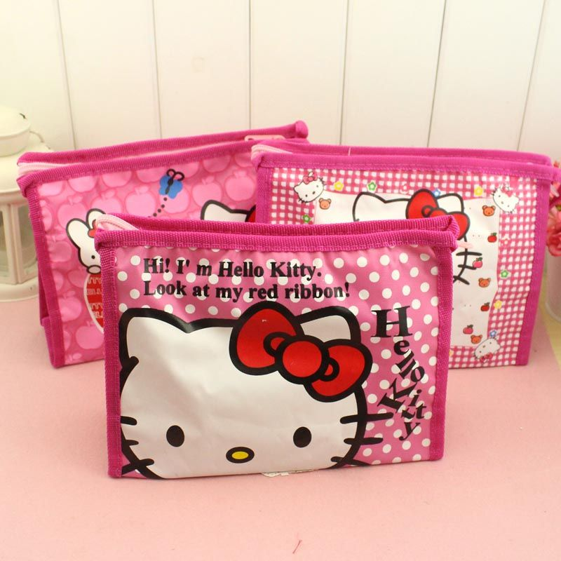 1pcs Women Portable Cute hello kitty Multifunction Beauty ZipperTravel  Cosmetic Bag Makeup Case Toiletry Pouch Pen Purse bag 4bcc35a072