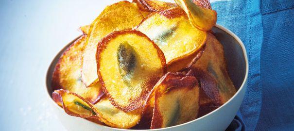 Recette de chips de pommes de terre farcies aux anchois et basilic d'Eric Frechon - L'Express