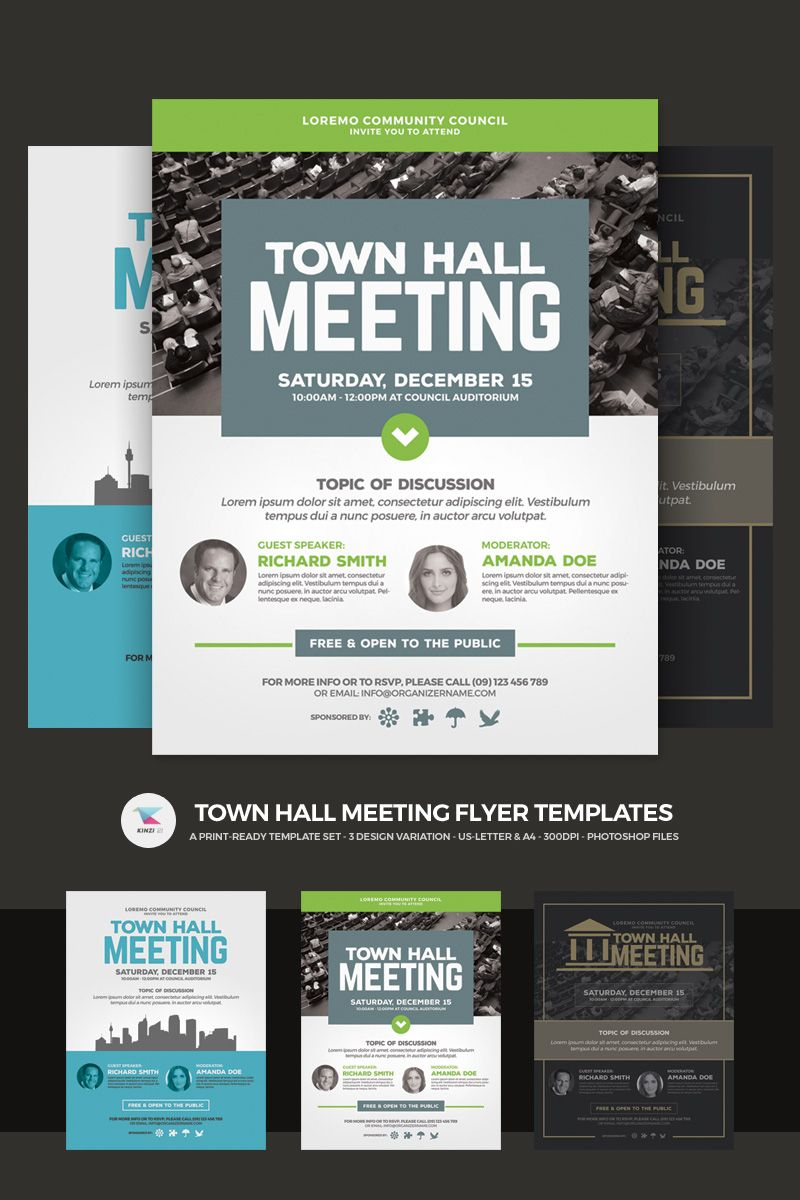 Town Hall Meeting Flyer Psd Template 66046 Town Hall