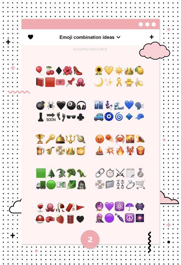 Cute Emoji Combinations To Copy And Paste Lu Amaral Studio Emoji Combinations Cute Emoji Combinations Cute Emoji