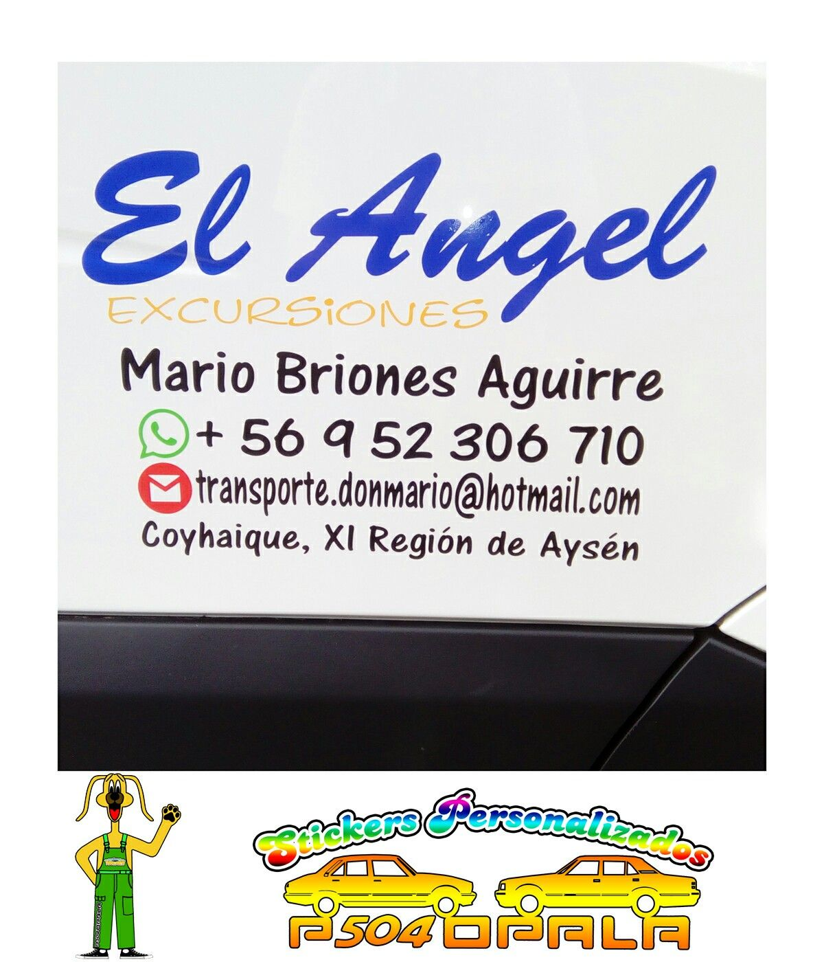 "Sticker ""El Angel Excursiones"""