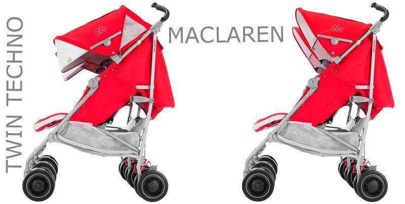 Maclaren Twin Techno Cardinal - Black 2016
