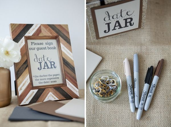 How to make a darling \'Date Jar\' for your wedding guest book!   Jar ...