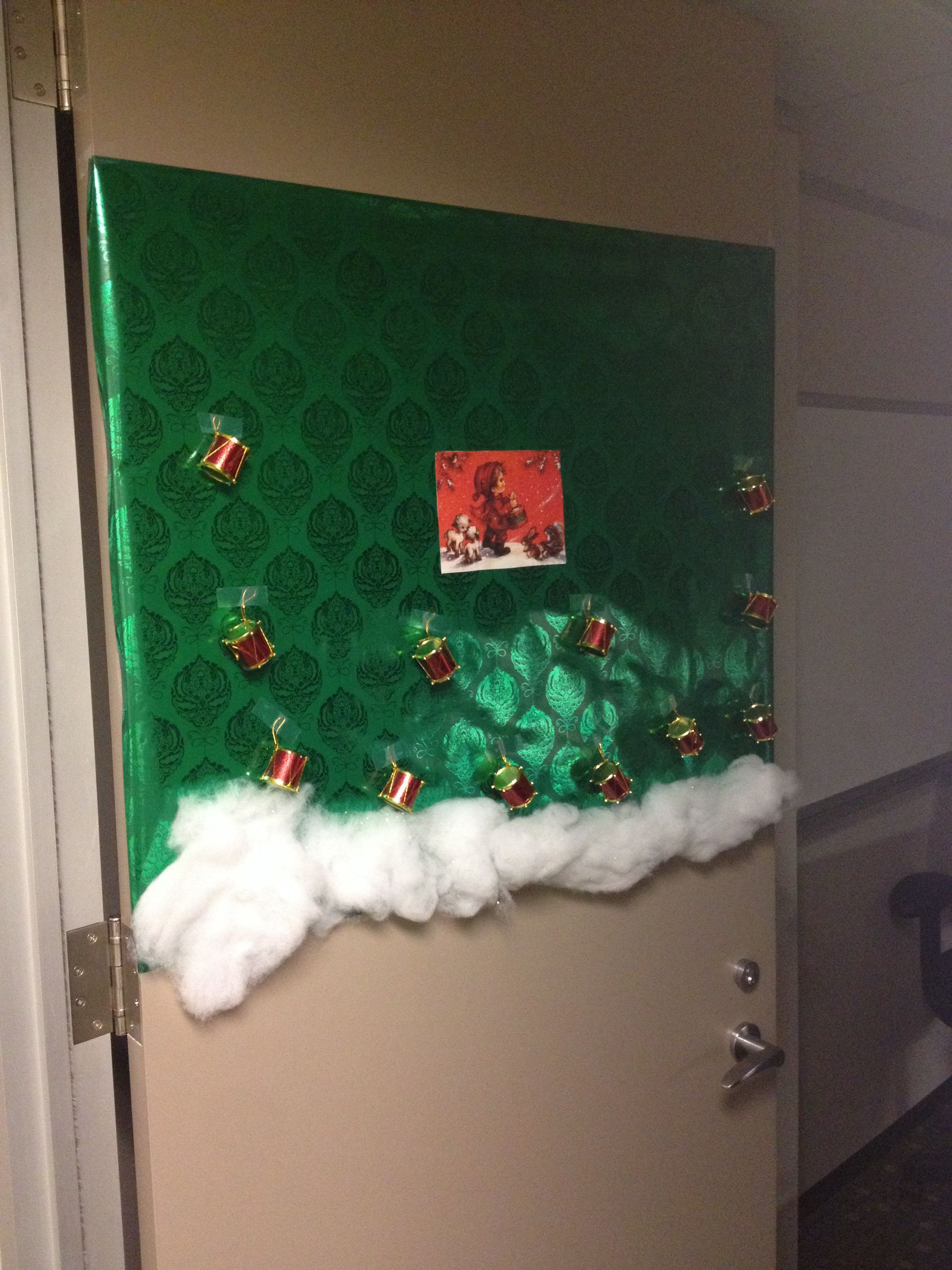 12 Days Of Christmas Door 12 Work Door Decorating Contest Diy Christmas Garland Christmas Decorations Door Decorating Contest