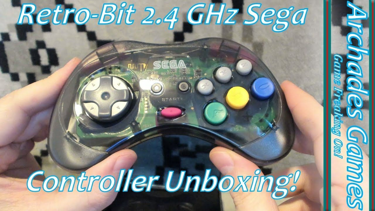 Retro Bit 2 4 Ghz Sega Genesis Saturn Controller Unboxing Sega Genesis Sega Unboxing
