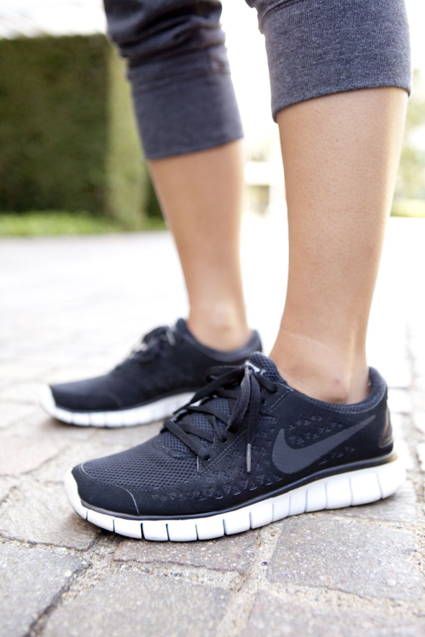 brand new 53ae5 168d6 Simple black Nike Frees are a must have for every active girl s wardrobe.   shoes  style  nike