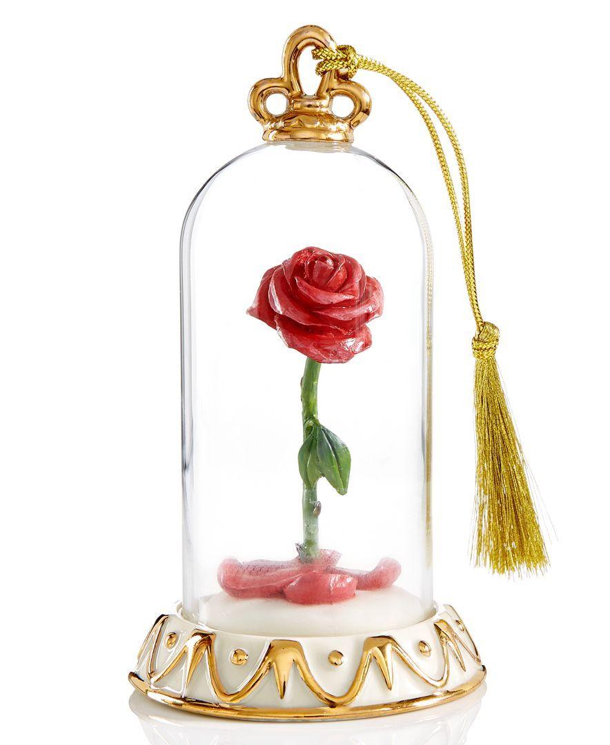 Rose christmas ornament - Lenox Beauty The Beast Rose Anniversary Vault Ornament Holiday Lane Splash Macy S
