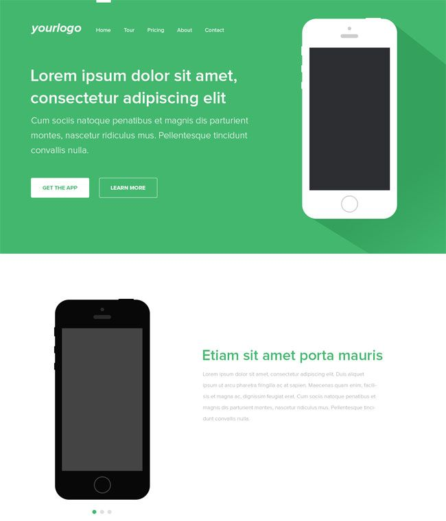 psd-mobile-app-landing-page-template Free PSD Landing Page - app landing page template