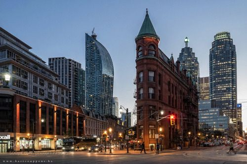 Evening in Toronto by bartceuppens  toronto canada city street travel night lights evening flatiron bartceuppens