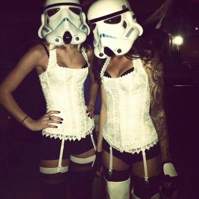 Love this, its a little slutty but still a totally awesome costume... Halloween perfected!