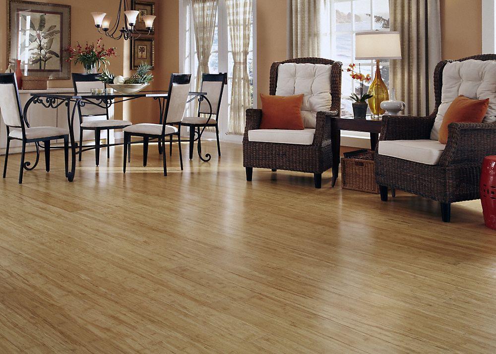 "Natural Flooring Options 3/8"" x 5-1/8"" engineered natural bamboo - lumber liquidators"