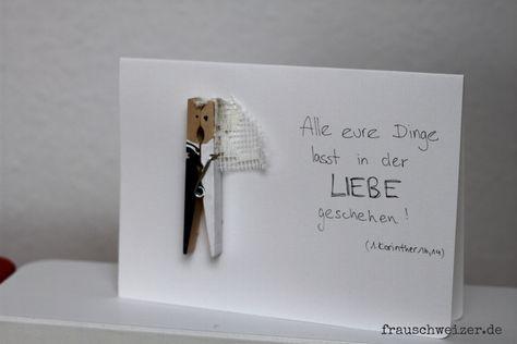 Photo of Handgemachte Karten Zum Nachbasteln Von FrauSchweizer
