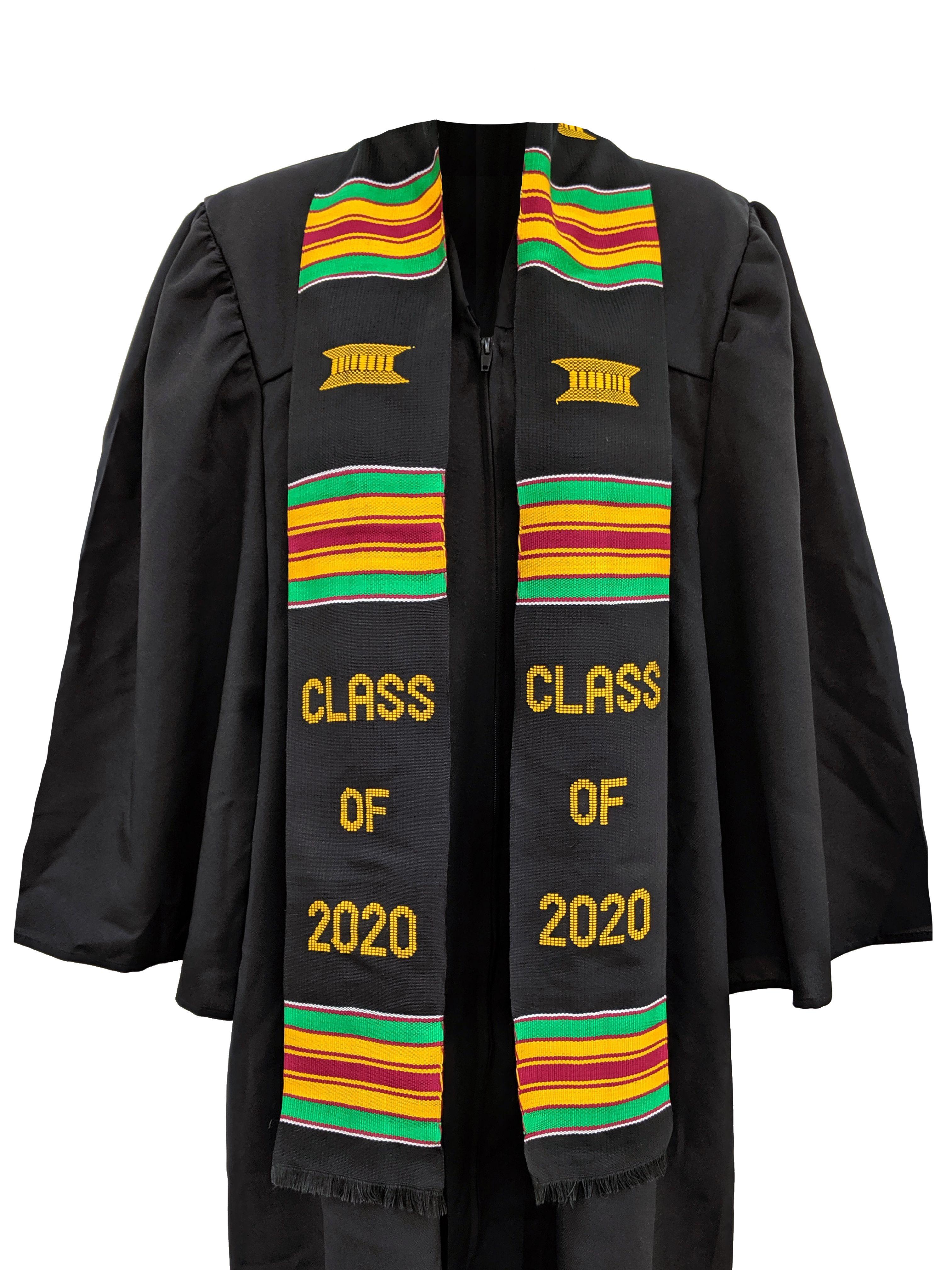 Authentic handmade kente graduation stoles class of 2020