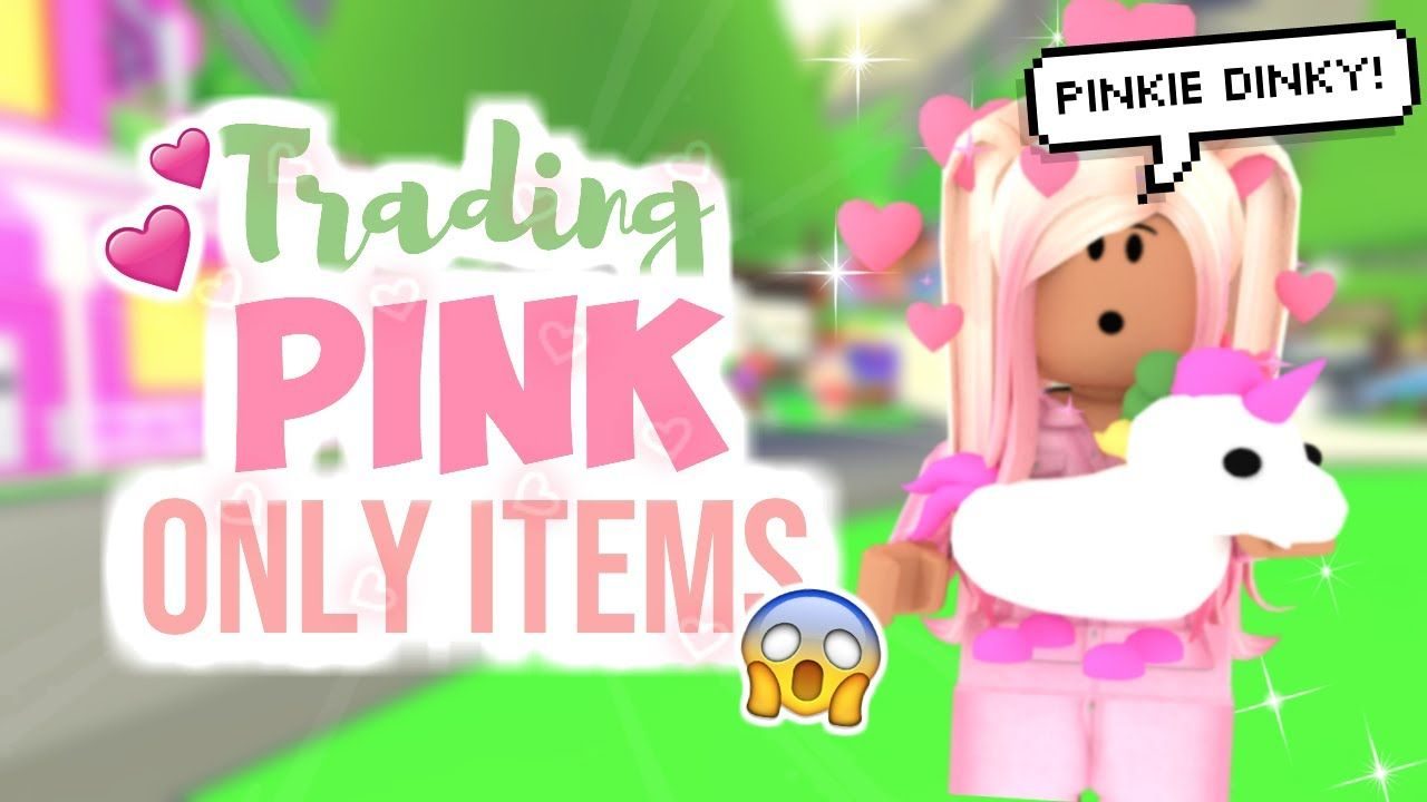 Trading Only Pink Pets Items In Adopt Me Sunsetsafari In 2020 Adoption Pets Roblox
