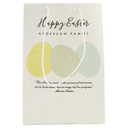 Cute soft subtle pastel easter eggs personalized medium gift bag cute soft subtle pastel easter eggs personalized medium gift bag happy easter egg holiday family negle Images