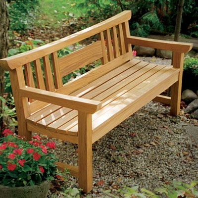English garden bench plans Garden loveseats Hardwood chairs These benches  have long graced English parks and gardens In the Outdoor Projects section  you