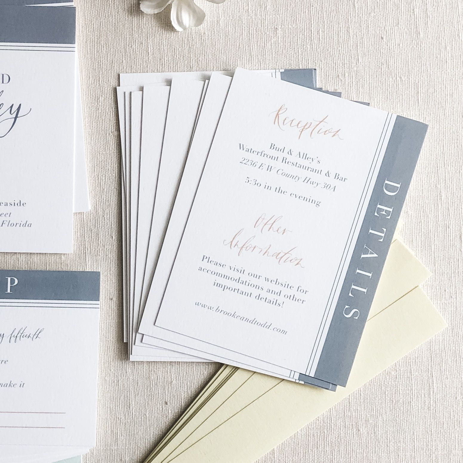 Small Ceremony Big Reception Invitations: Modern Seaside 30A Wedding Invitation Suite With A Slate