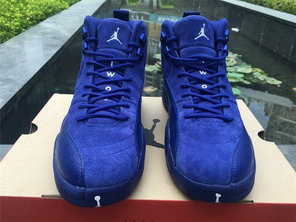 237624ae5ee536 coupon for nike kids air jordan retro 12 royal blue 130490 113 basketball  shoes grade school dc003752 9949b 8f760  uk air jordan 12 deep royal blue  super ...