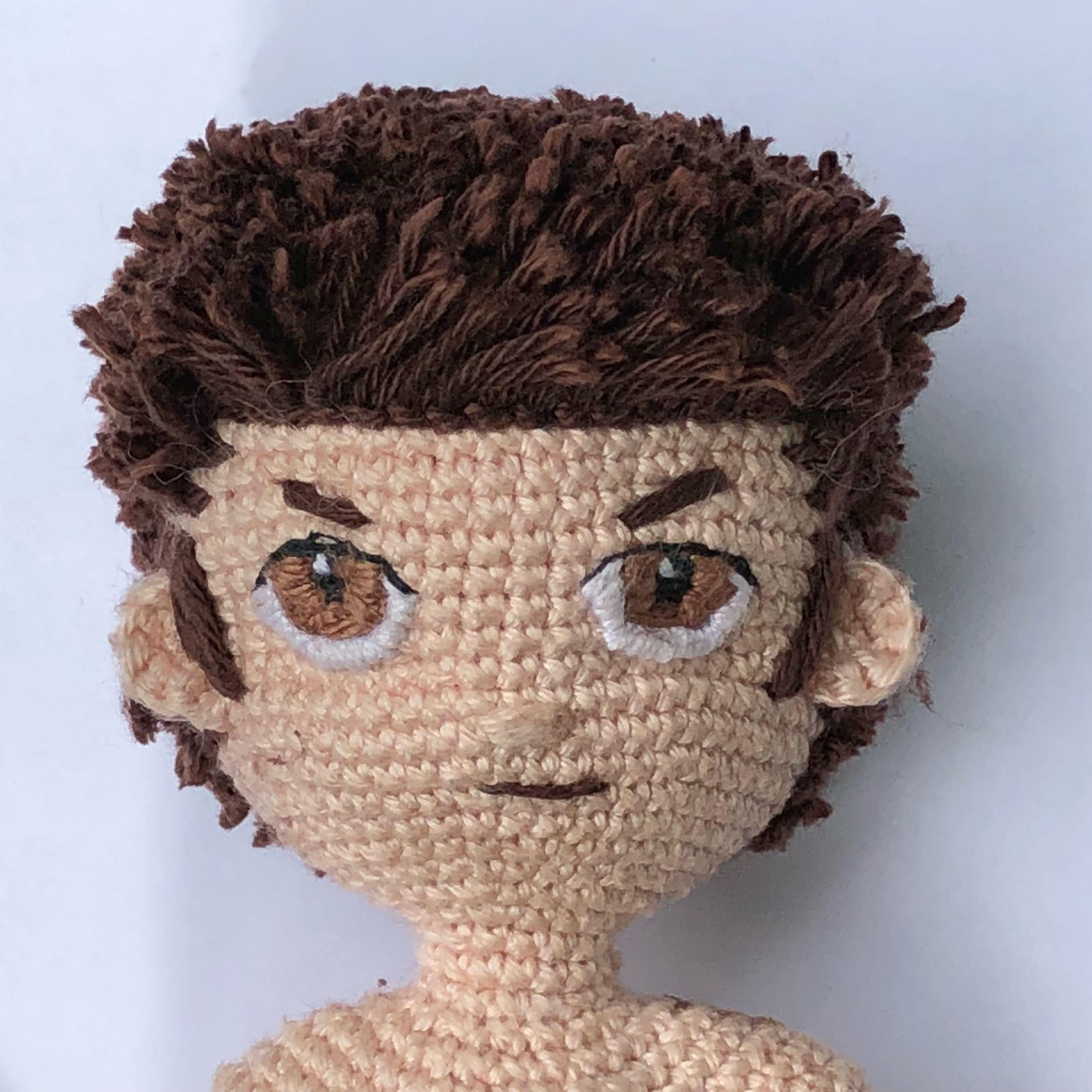 ↑ that look like a boygroup lol. Crochetting boy doll | Muñeca ... | 3024x3024