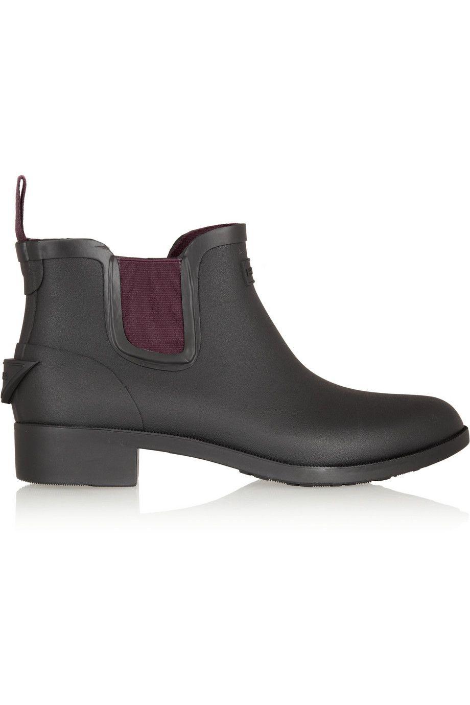 Hunter Hayden rubber ankle boots