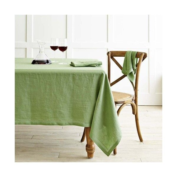 Delightful Linens · Williams Sonoma Linen Double Hemstitch Tablecloth ...