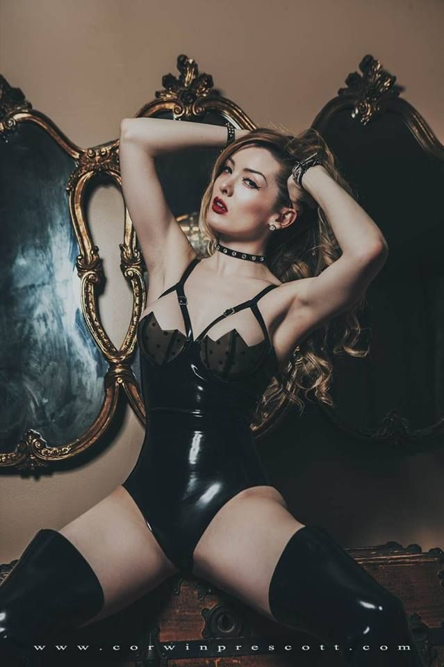 lingerie Sexy babe in latex