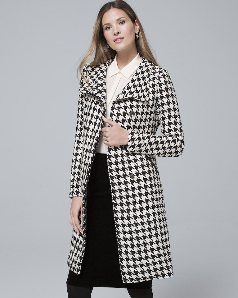 1db9ce39539 Women s Houndstooth Coat by White House Black Market