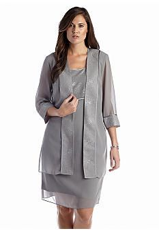 d1297414239 Dana Kay Plus Size Three-Quarter Sleeve Duster Jacket Dress ...