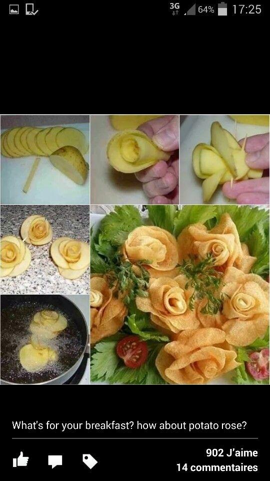 Pommes de terres fleurs